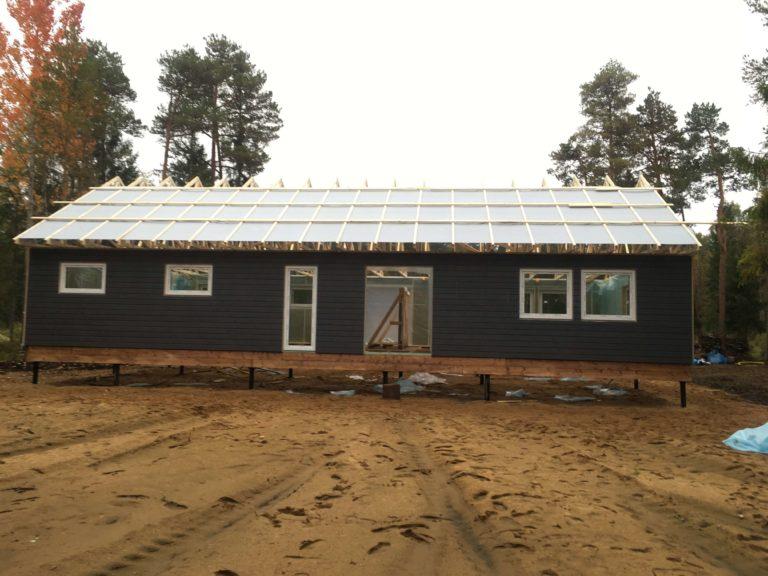 modular house build progress